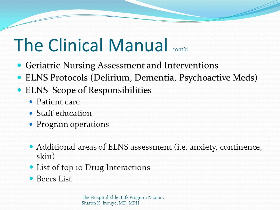 The Clinical Manual cont'd