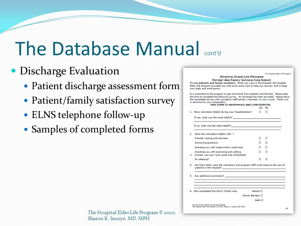 The Database Manual cont'd