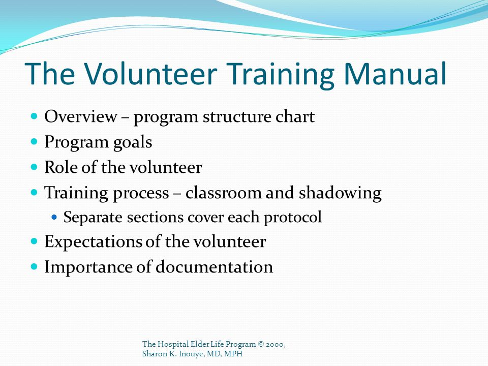 The Volunteer Training Manual
