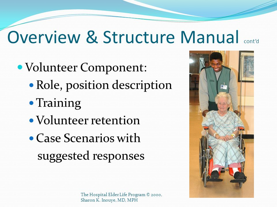 Overview & Structure Manual cont'd
