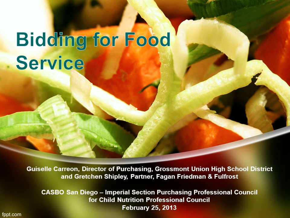 Bidding for Food Service