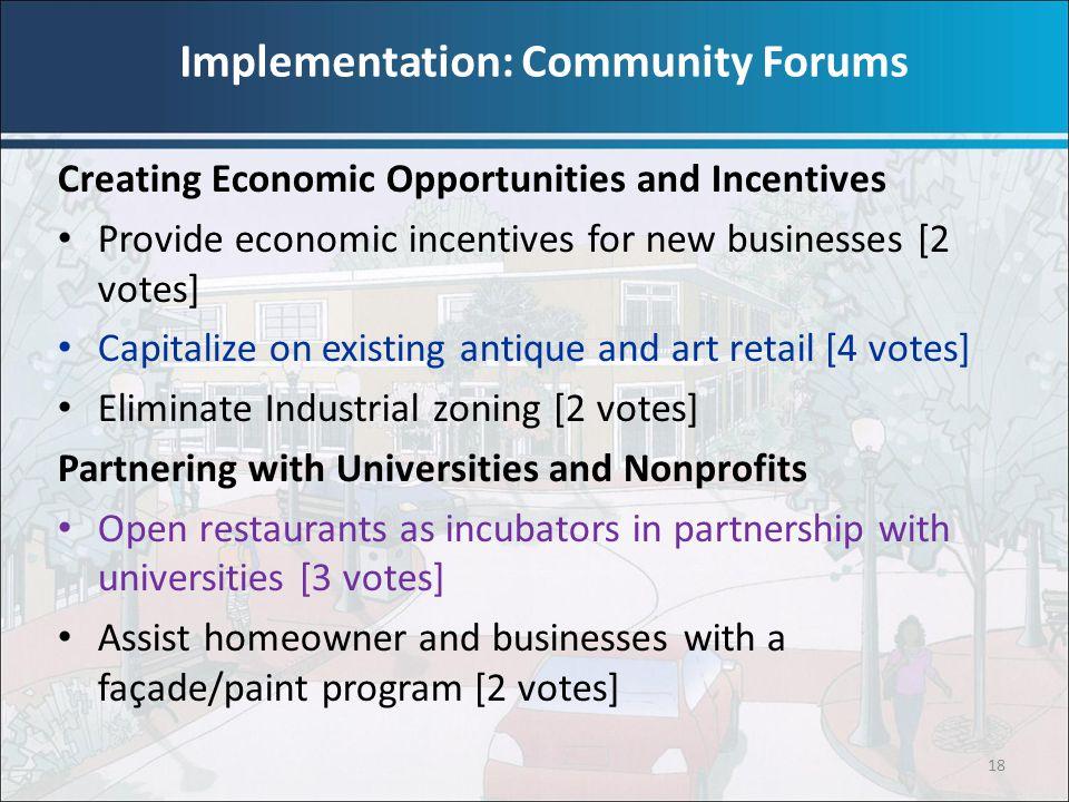 Implementation: Community Forums