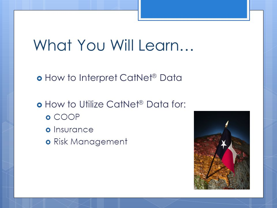 What You Will Learn… How to Interpret CatNet® Data