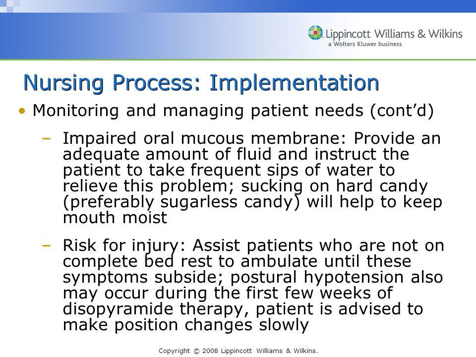 Nursing Process: Implementation