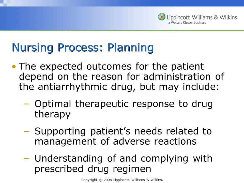 Nursing Process: Planning