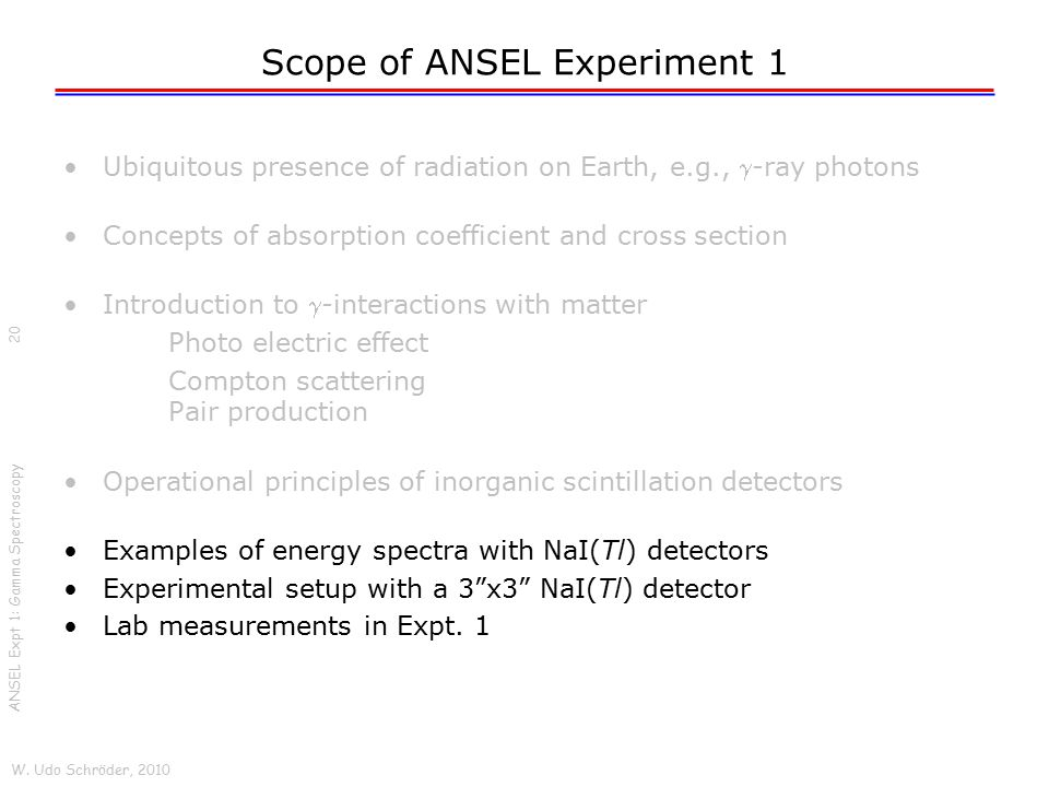 Scope of ANSEL Experiment 1