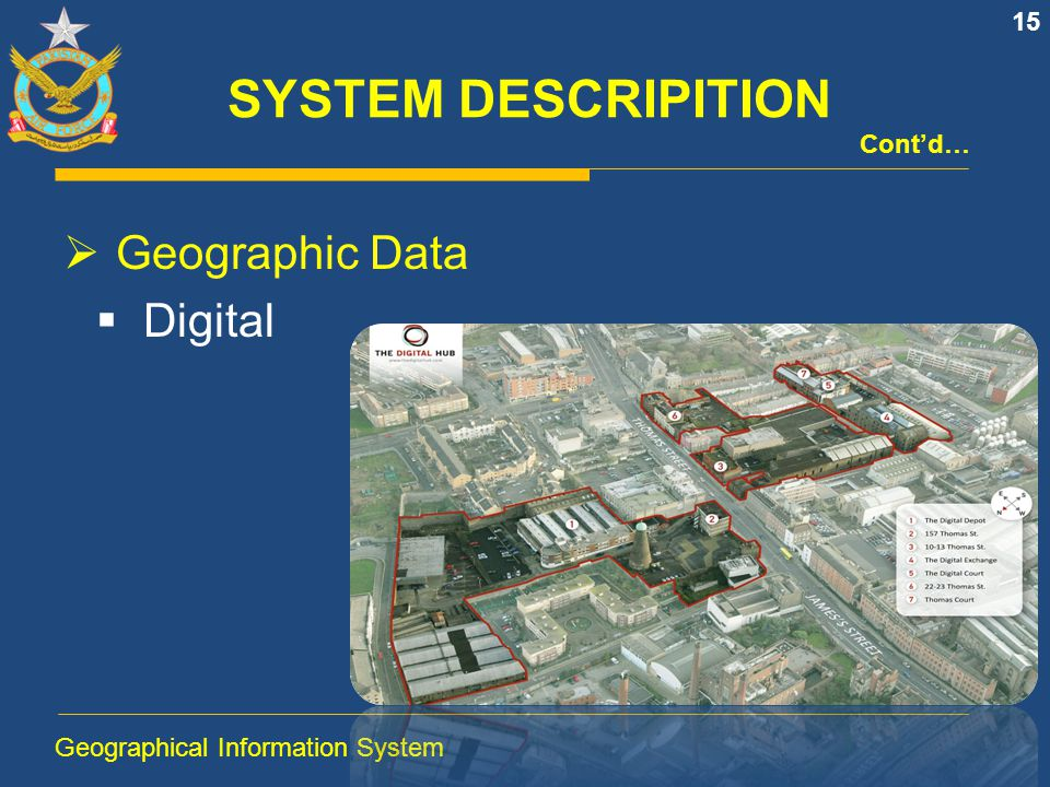 SYSTEM DESCRIPITION Geographic Data Digital Cont'd…