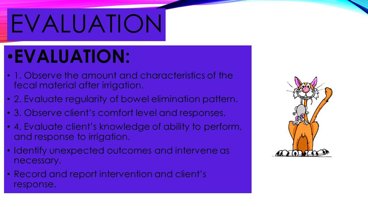 evaluation EVALUATION: