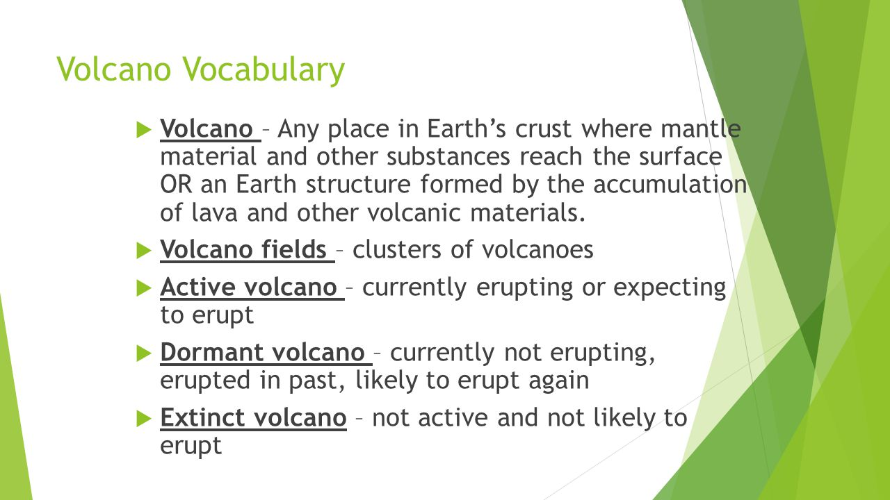 Volcano Vocabulary