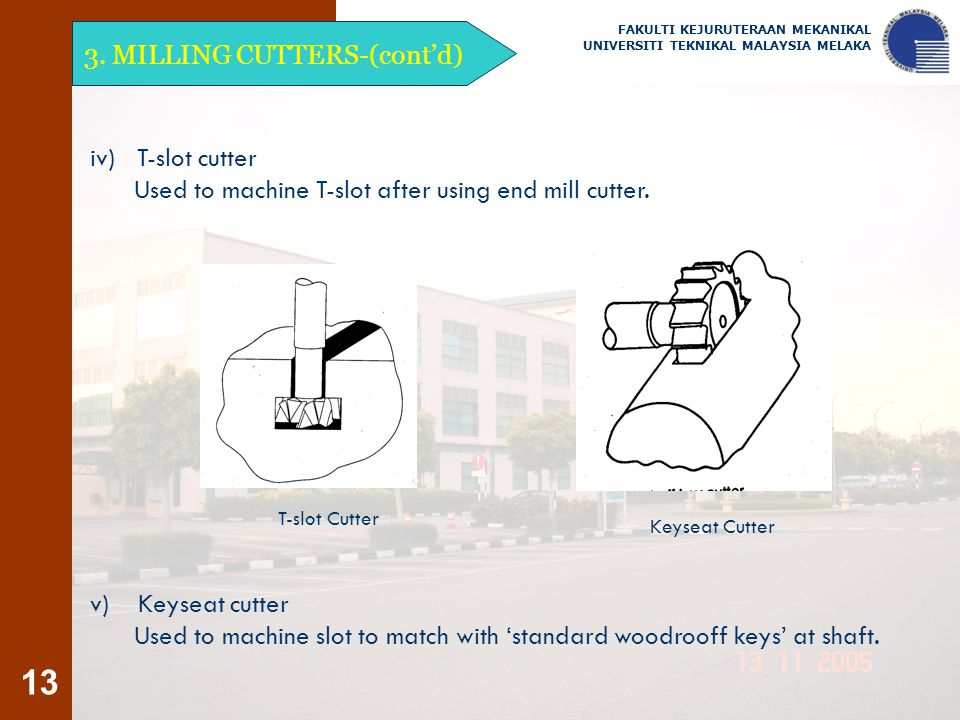 3. MILLING CUTTERS-(cont'd)