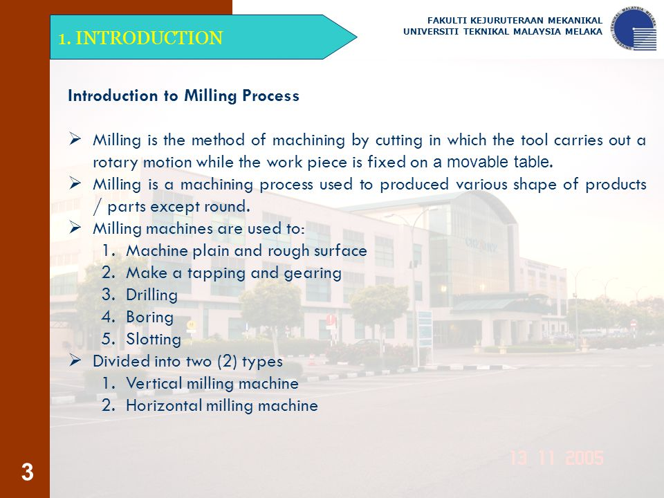 Introduction to Milling Process
