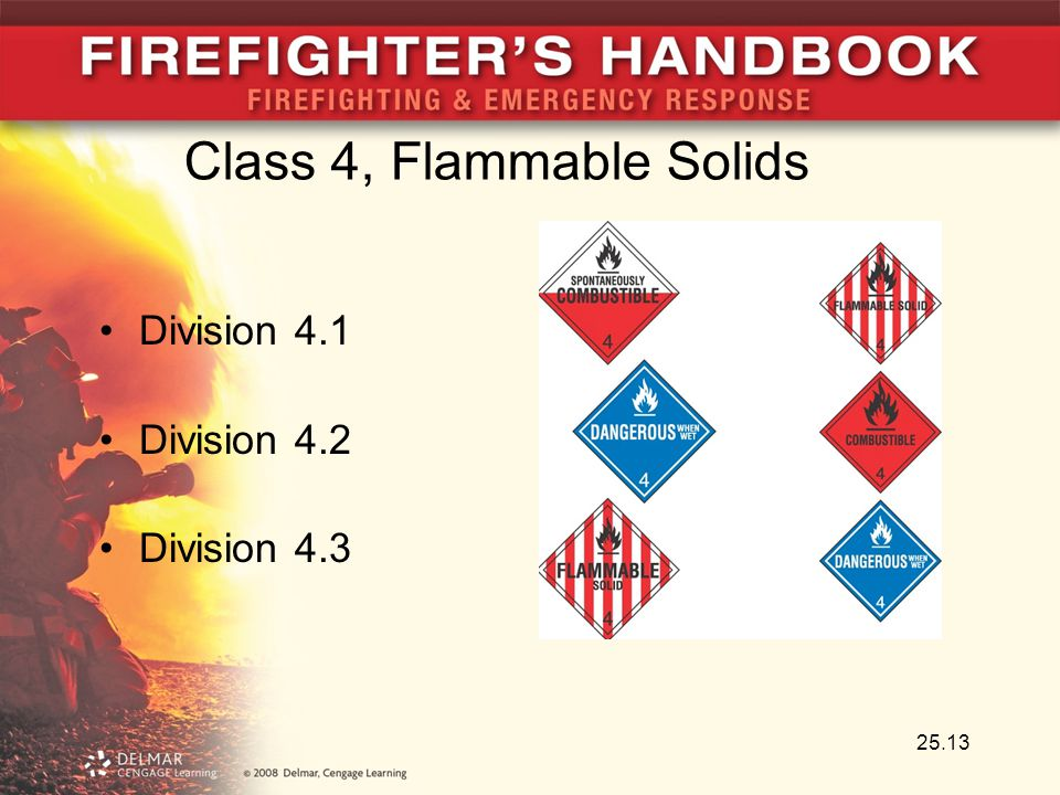 Class 4, Flammable Solids