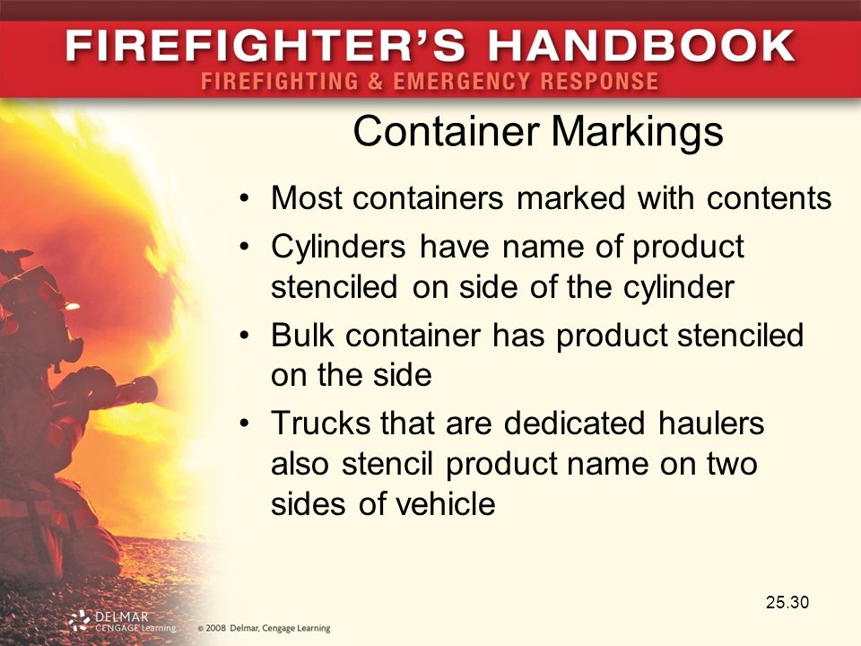 Container Markings Most containers marked with contents