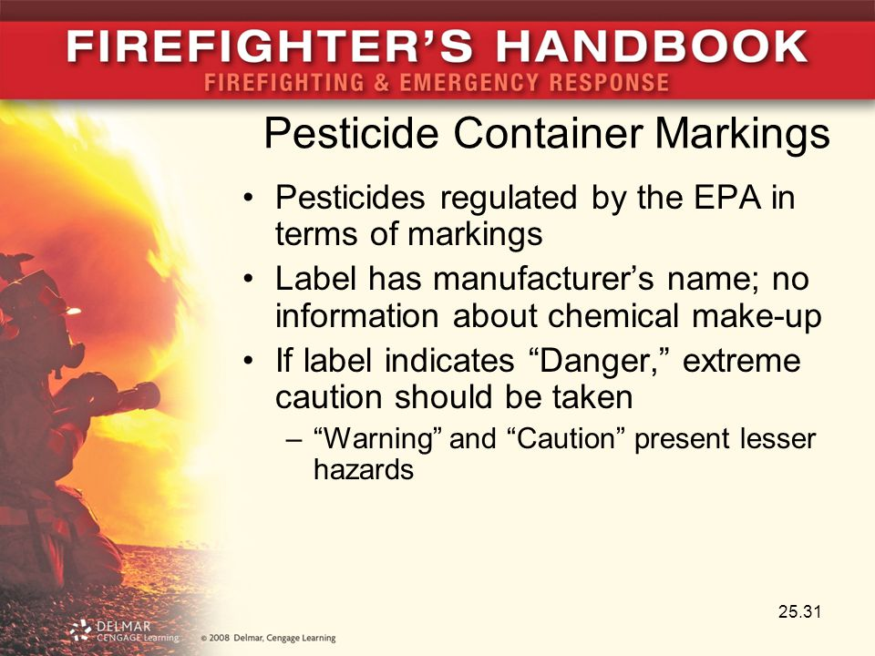 Pesticide Container Markings