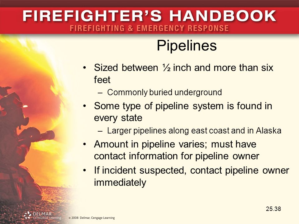 Pipelines Sized between ½ inch and more than six feet