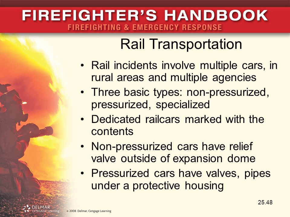 Rail Transportation Rail incidents involve multiple cars, in rural areas and multiple agencies.