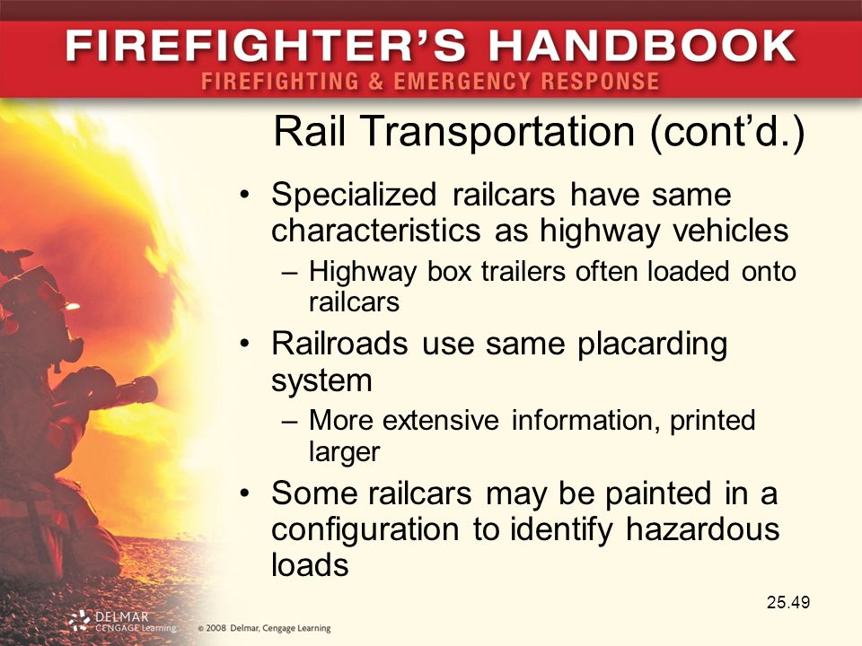 Rail Transportation (cont'd.)