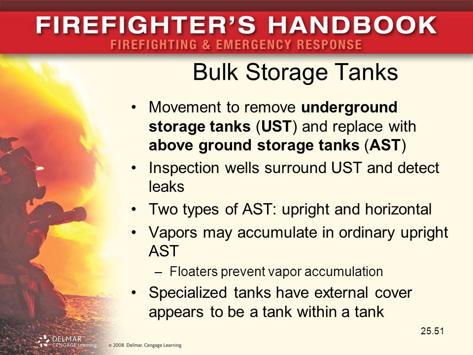 Bulk Storage Tanks Movement to remove underground storage tanks (UST) and replace with above ground storage tanks (AST)