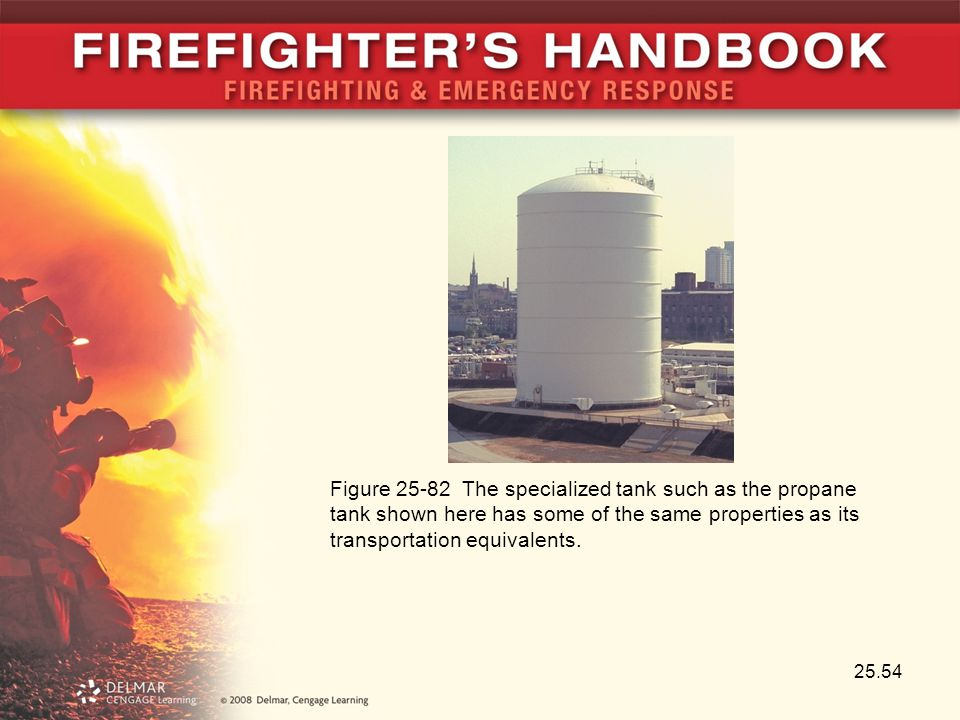 Figure 25-82 The specialized tank such as the propane tank shown here has some of the same properties as its transportation equivalents.