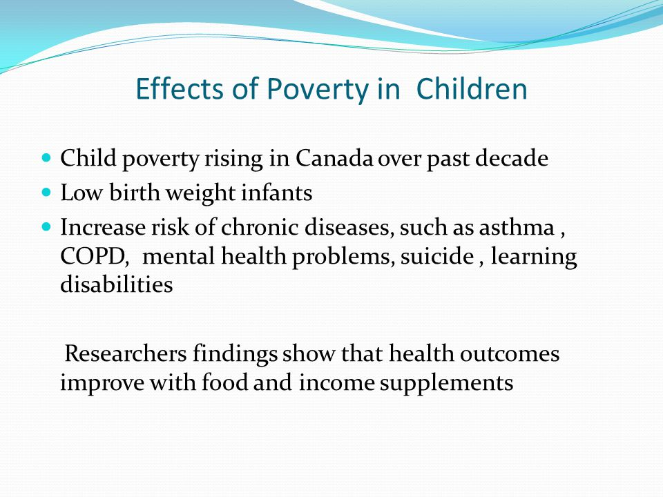 Effects of Poverty in Children