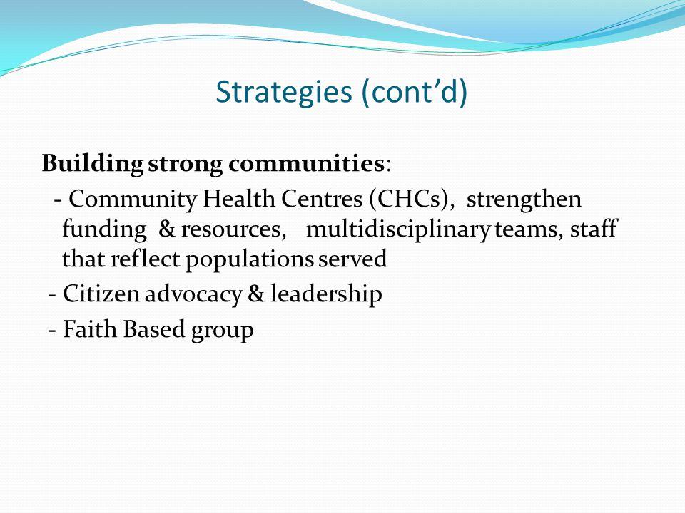 Strategies (cont'd)