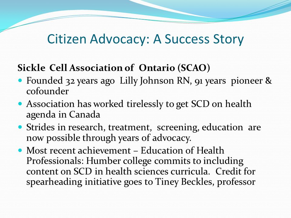 Citizen Advocacy: A Success Story