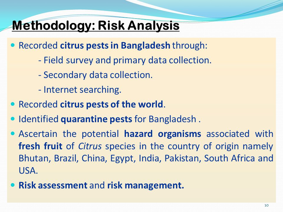 Methodology: Risk Analysis