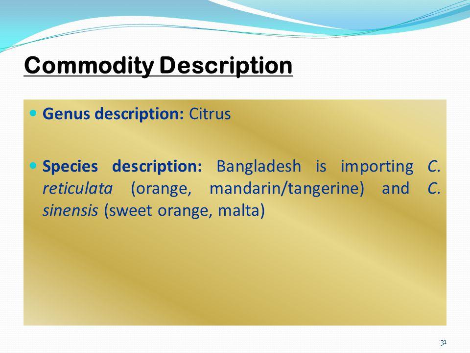 Commodity Description