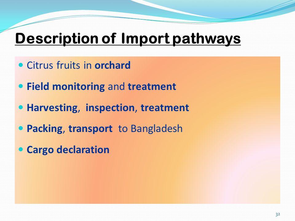 Description of Import pathways