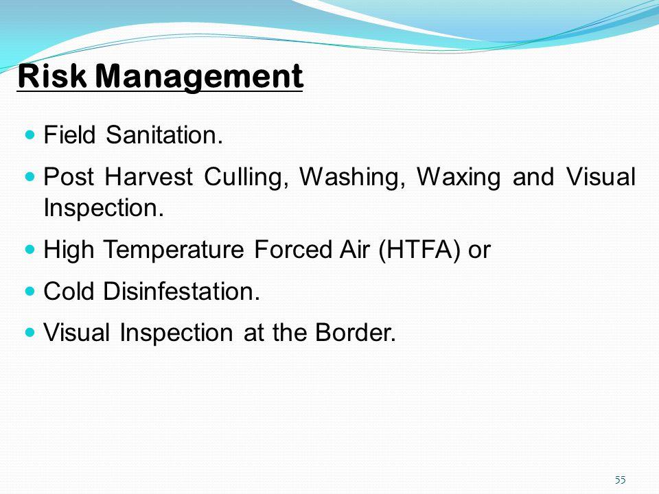 Risk Management Field Sanitation.