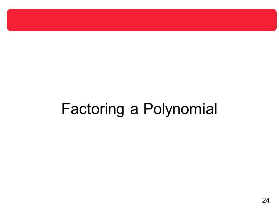 Factoring a Polynomial