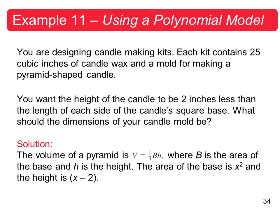 Example 11 – Using a Polynomial Model