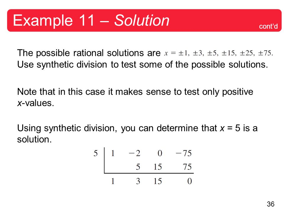 Example 11 – Solution cont'd.