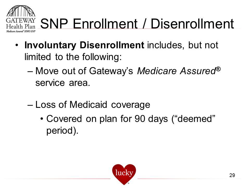 SNP Enrollment / Disenrollment