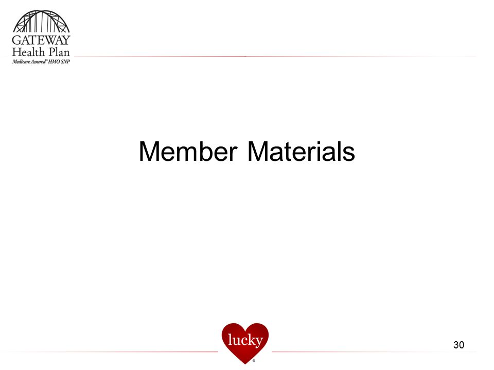 Member Materials