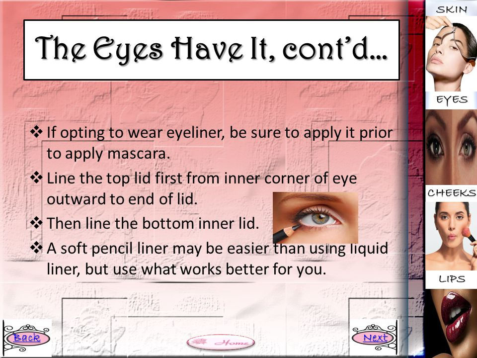 The Eyes Have It, cont'd…