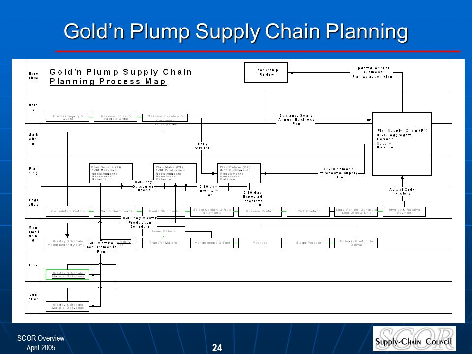 Gold'n Plump Supply Chain Planning