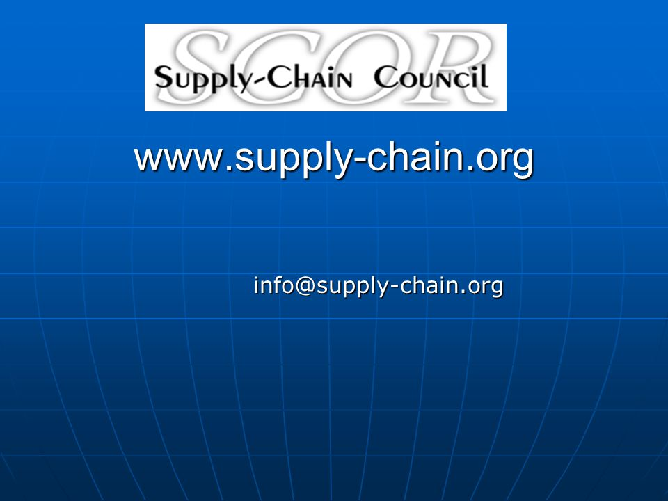 www.supply-chain.org info@supply-chain.org