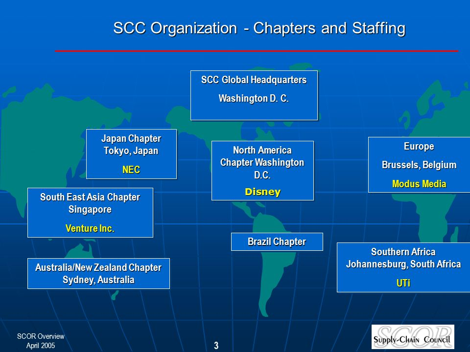 SCC Organization - Chapters and Staffing