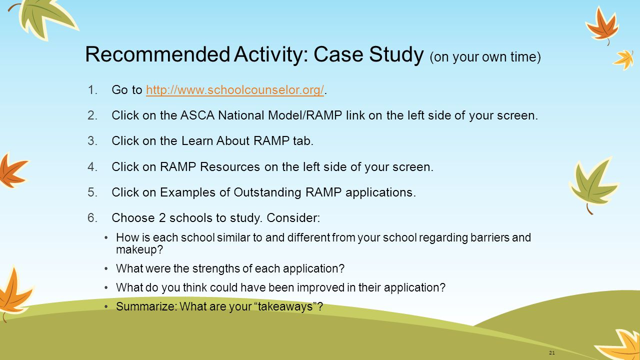 Recommended Activity: Case Study (on your own time)