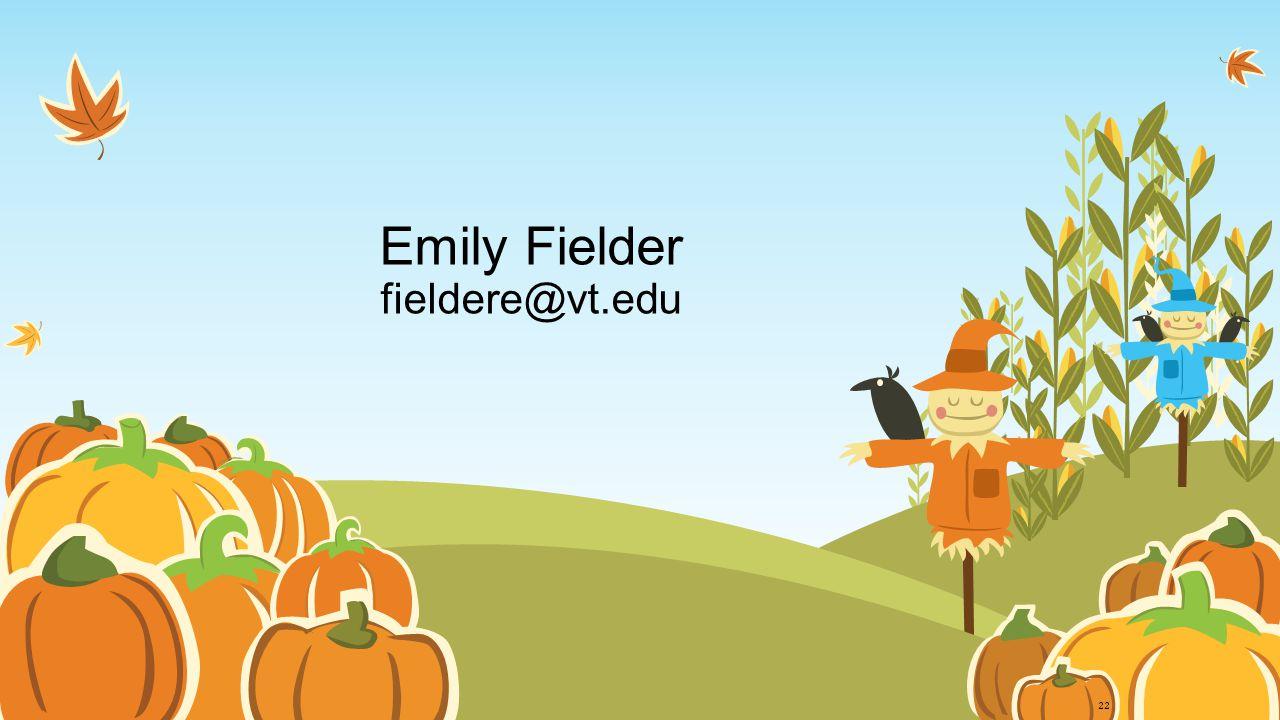 Emily Fielder fieldere@vt.edu