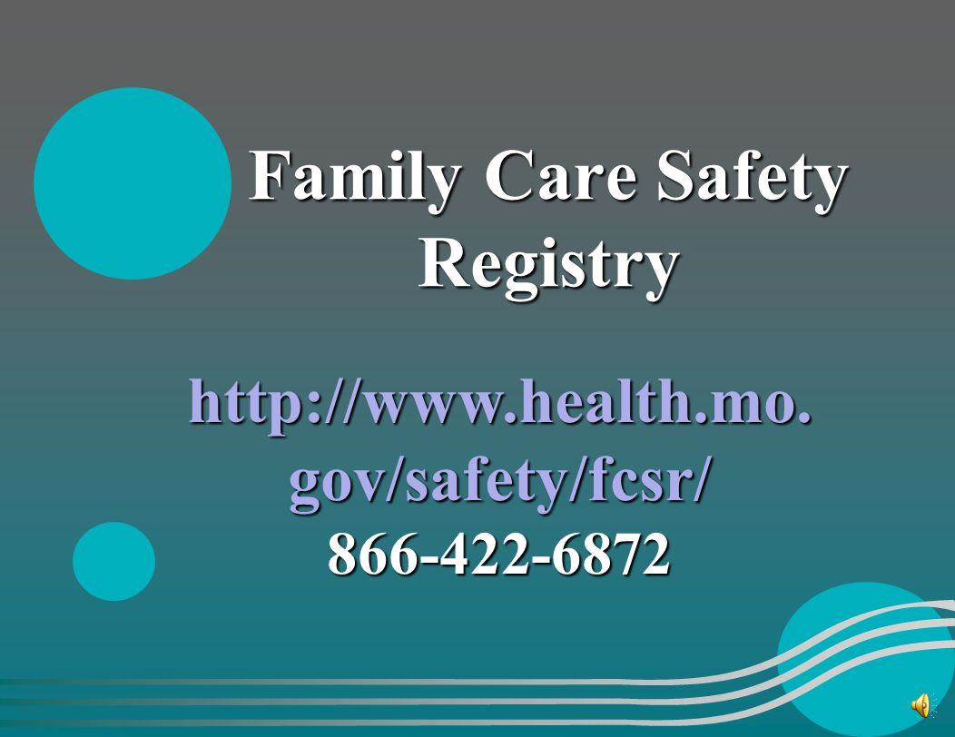 Family Care Safety Registry