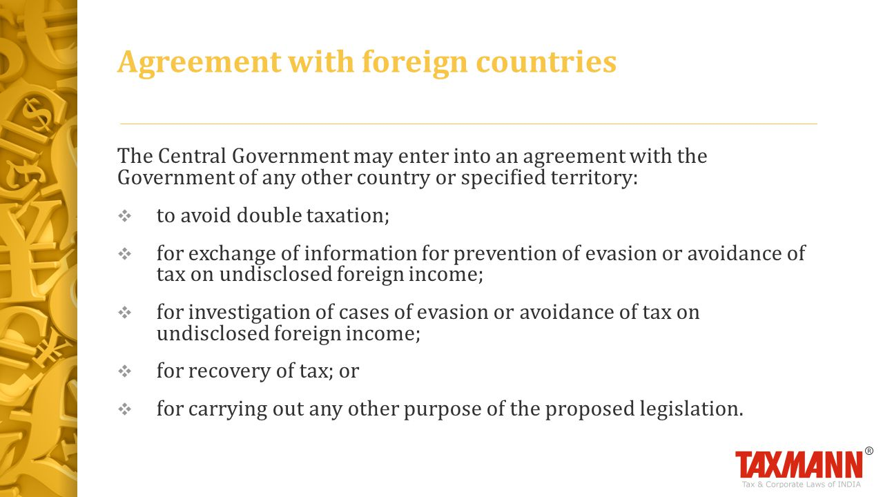 Agreement with foreign countries