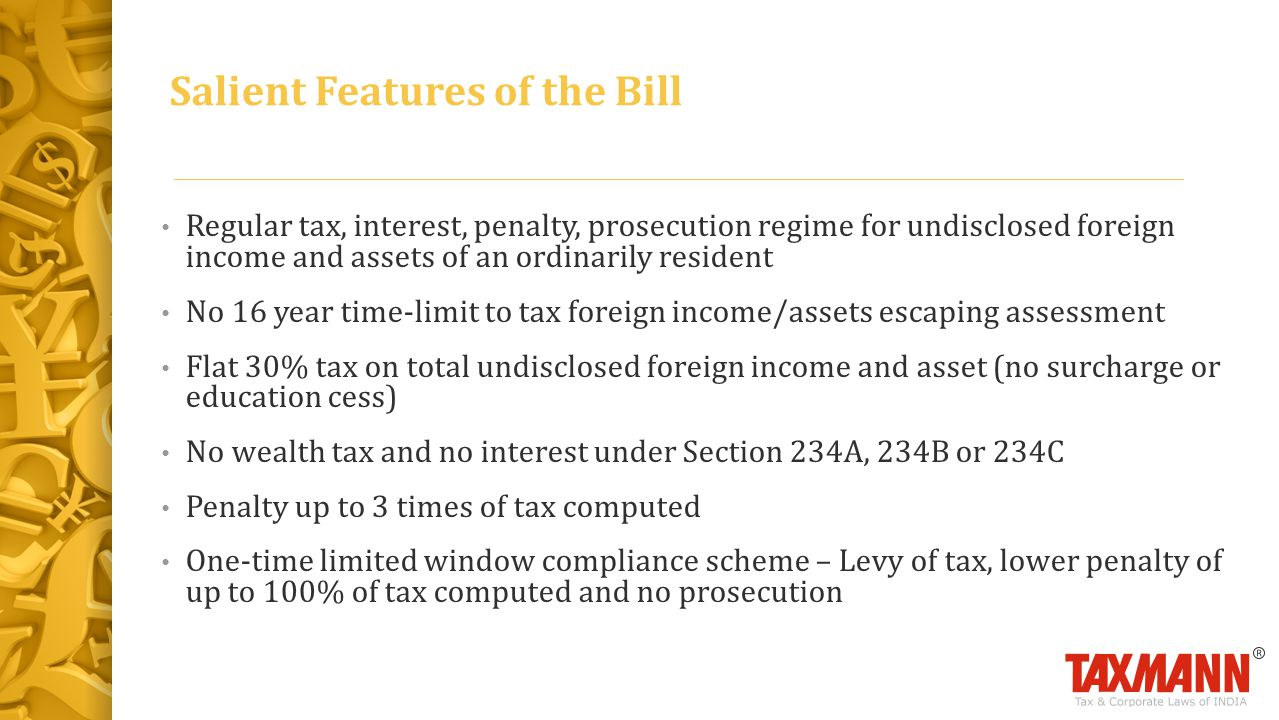 Salient Features of the Bill