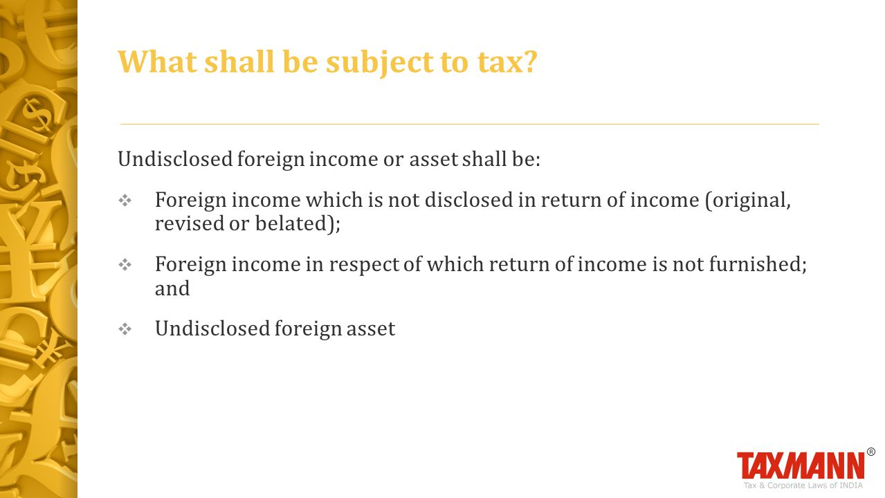 What shall be subject to tax