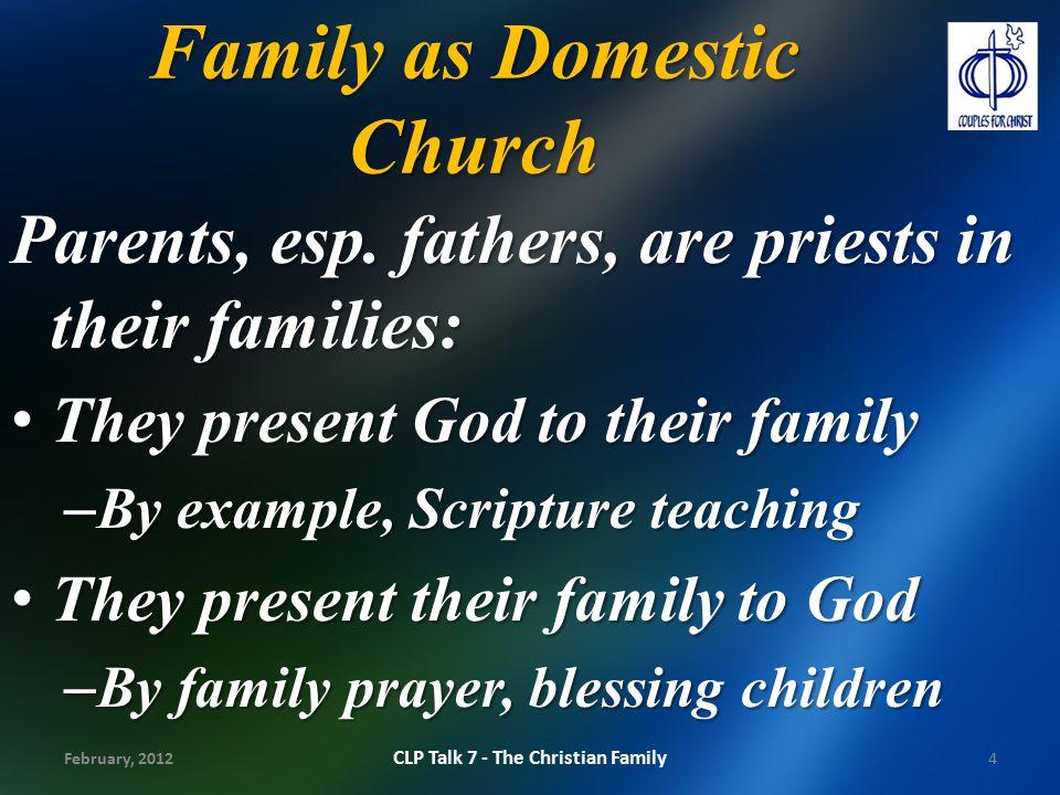 Family as Domestic Church
