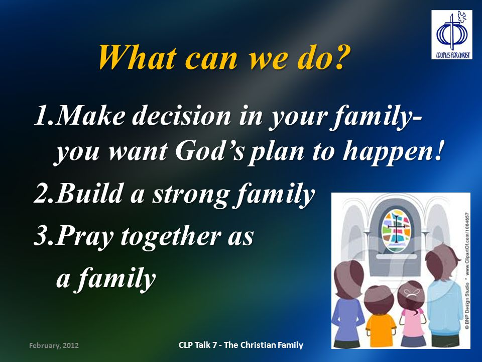 CLP Talk 7 - The Christian Family