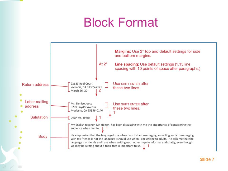 Block Format Slide 7