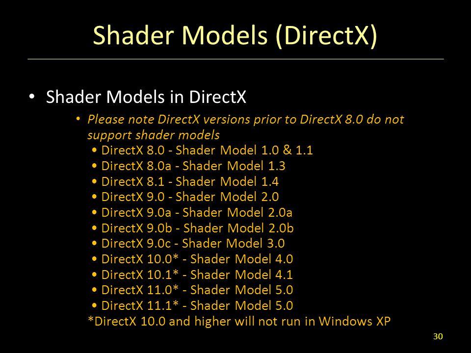 Shader Models (DirectX)