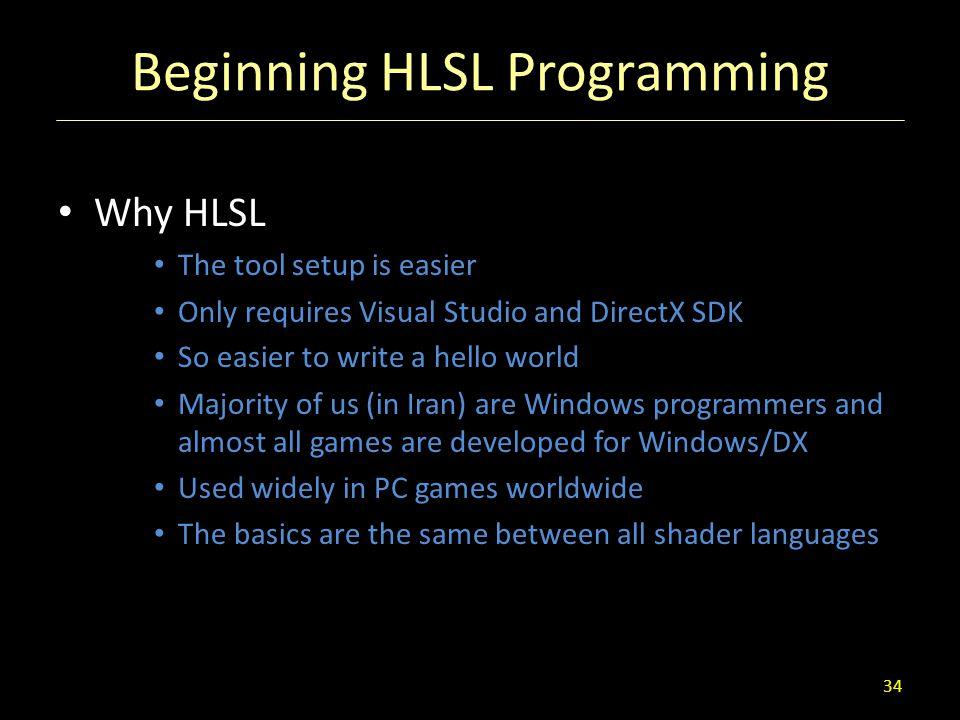 Beginning HLSL Programming